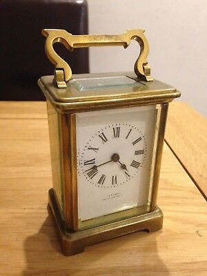 French Carriage Clock retailed Castrell South Kensington Movement marked J F