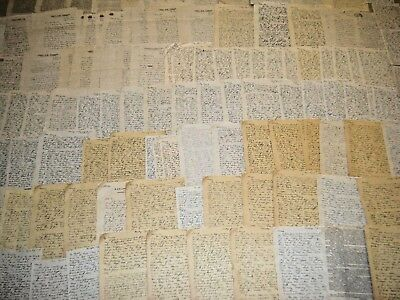 Lot of WWll WW2 Soldier Correspondence 100 Letters without envelopes Lot #1