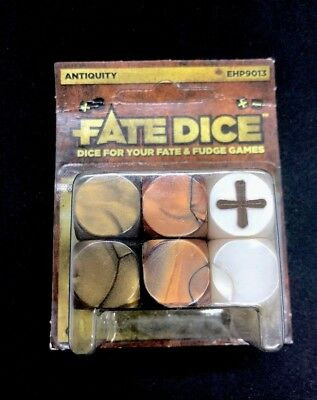 Fate Dice for Fate /& Fudge Games Evil Hat Productions Pack of 12 D6 Frost Dice