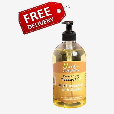 Perfect Blend, Dispersible Massage Oil 500ml + Pump - H2Oil Premium Grade Jojoba