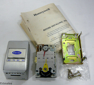 Honeywell Carrier Pneumatic Thermostat TP973B-1090-1 Reverse Acting w/Cover Moun