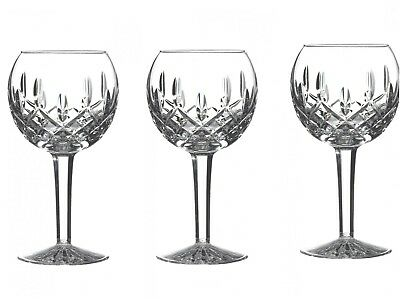 Waterford Lismore Balloon Wine Glass, 8-Ounce, Pack of Three
