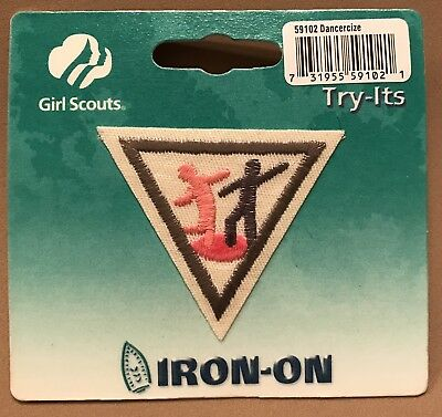 Vintage Girl Scout Dancersize Iron-on Scouts Collectible Dance Exercise BNIP New