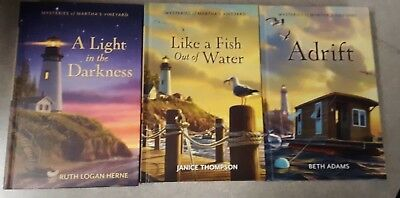 Lot of 3 Mysteries of Martha's Vineyard Books 1, 2, 3 Guideposts hardcovers
