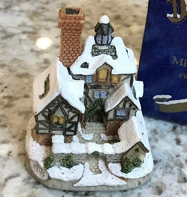 David Winter Christmas Cottages Miniatures Collectibles Set of 4