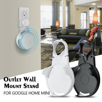 US Plug Outlet Wall Mount Compact Hanger Holder Stand Fr Google Home Mini Voice