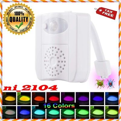 Glow Bowl Fresh Motion Activated Toilet Night Light w/ Air Freshener 16 Colors