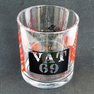 Vintage  Vat 69 Ballantine's Long John Haig Whisky Whiskey Glass Tumbler