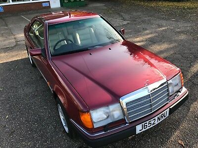 C124 Mercedes 230CE 1992 Almandine Red  Pillar less Coupe in Beautiful Condition
