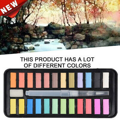 12 18 24 Watercolour Paint Set With Brush Painting Water Colour Art Artist Kit