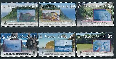 2010 Pitcairn Island Childrens Art Set Of 6 Fine Mint Mnh