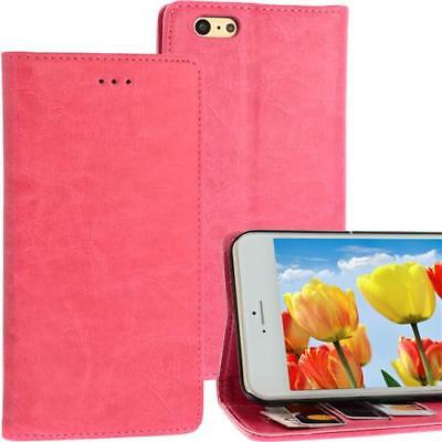 Bookstyle Case per Apple Iphone 6 Fucsia Scomparto Carte Chiusura Magnetica