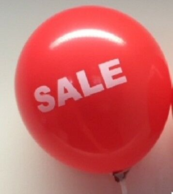 """sale"" Red 12"" Latex Balloons - Suitable For Air Or Helium"