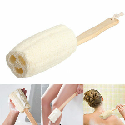 Long Handle Shower Bath Loofah Back Body Brush Spa Scrubber Massager Cleaning