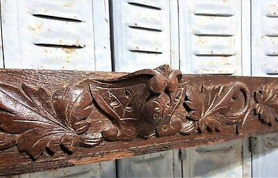 Architectural salvage gothic pediment Antique french wood salvaged crest cornice
