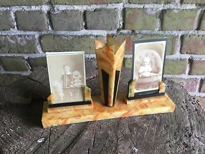 French Art Deco  Original  Double  picture photo Frame