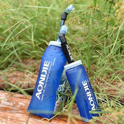 Sport Running Bicycle Soft Water Bottle Bag Folding TPU Soft Water Flask With Lo