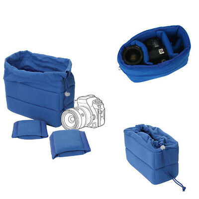 New Shockproof DSLR SLR Camera Bag Partition Padded Velvet Insert Protection Cas