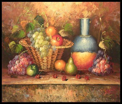 """24""""x20"""" Oil Painting on Canvas, Fruit Still Life, Genuine hand painted"""