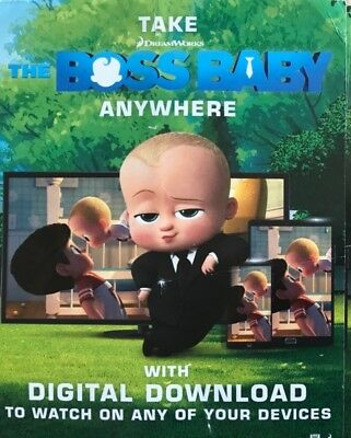 The Boss Baby Fox Film       Hd Code Digital Download Code Only