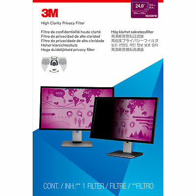 "3M™ High Clarity Privacy Filter for 24"" Widescreen Monitor (hc240w1b)"