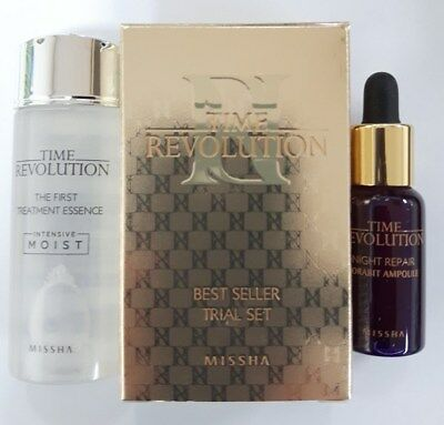 {Missha}Time Revolution First Treatment Essence+Night repair Borabit Ampoule Kit