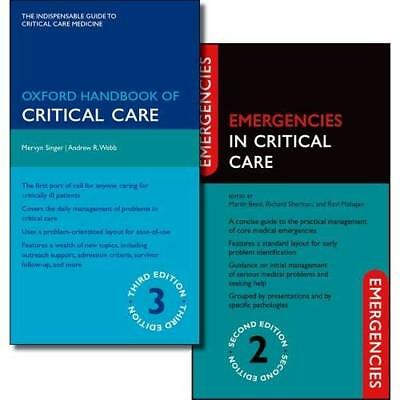 Oxford Handbook of Critical Care Third Edition and Emer - Hardcover NEW Singer,