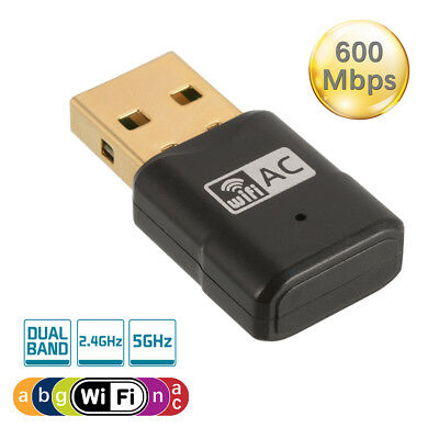 600M USB WiFi Adapter Wireless Dongle 802.11ac Dual Band 2.4/5GHz Network AC829