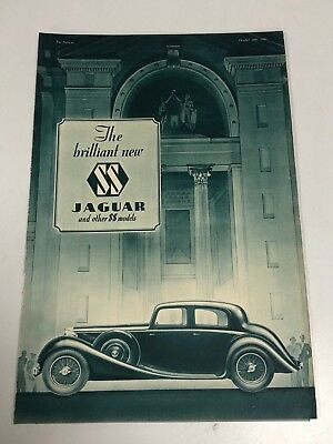 Very Rare 1935 SS JAGUAR Cars 6 Page Pull Out Motor Car Magazine Advert