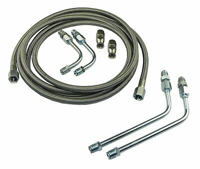 Stainless Braided Transmission Cooler Flex Hose Line Set Kit TH400 TH350 700R4