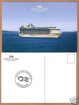 ms RUBY PRINCESS...cruise ship. Princess (1) post card W /Ships official Stamp
