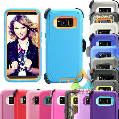 For Samsung Galaxy S8 S8+ Case (Clip fits Otterbox Defender) P02 Holster