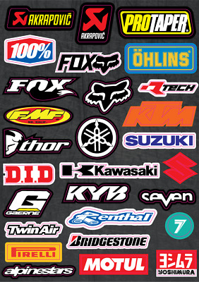 Motocross Sticker Pack Decal Sheet MX Racing Dirt Bike Kit ATV Lot Set Bomb A4