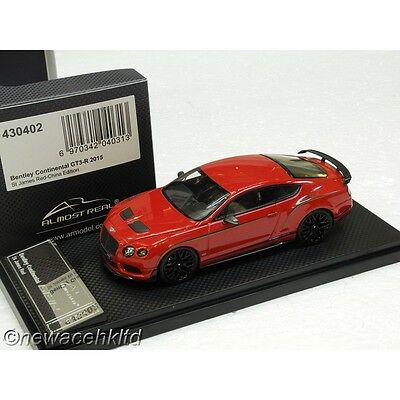 Bentley Continental Gt3-R 2015 St James Red Almost Real 1/43 #430402