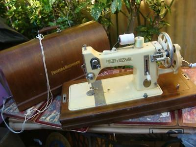 Old Vintage Antique  West Germany  FRISTER  & ROSSMANN  Sewing Machine See Video