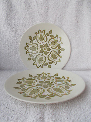 J&G Meakin Maidstone Tulip Time - 2 Dinner Plates 10""