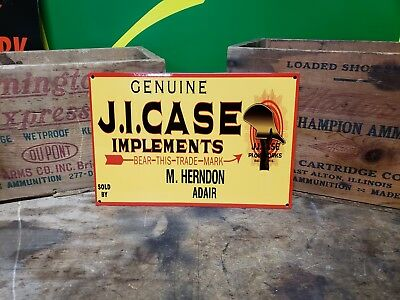Case tractor implements sign farm seed feed barn  gas oil