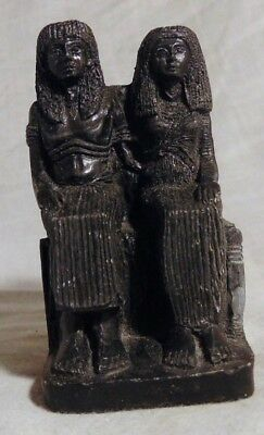 Ancient Egyptian Style Satue Of Two Seated Rulers