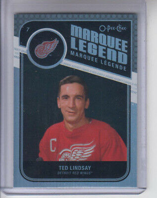 11/12 OPC Detroit Red Wings Ted Lindsay Rainbow Marquee Legend card #535