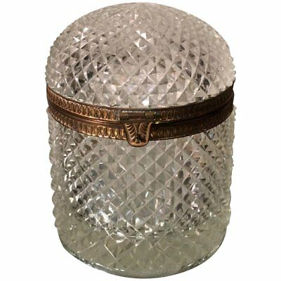 Superb Antique Baccarat Crystal Domed Box