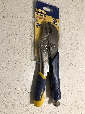 """Irwin Vise-Grip 10"""" 250mm Curved Jaw Locking Pliers/Mole Grips Soft Grip 10WR"""