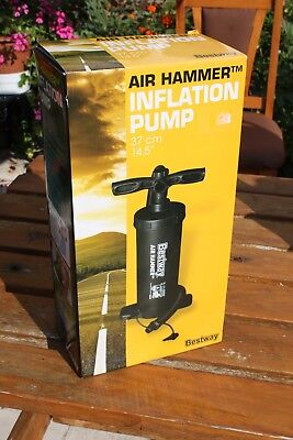 "Bestway Air Hammer Inflation Hand Pump 14.5"" for Airbed, Swimming Pool etc"