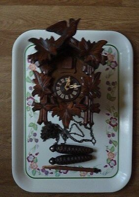 Black Forest Cuckoo Clock  25 Years + Could Be Repaired Needs Pendulum Service