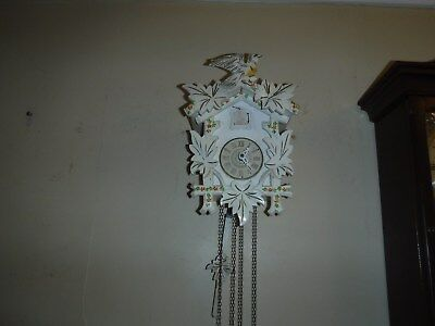 Sweet White Cuckoo Clock 30 hour  GWO  I year warranty offered