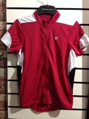 Pearl Izumi Women s Select Short Sleeve Full Zip Jersey Large Red White d65076cf9