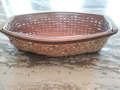 Longaberger Heartwood Bread Basket Set Great Condition FREE SHIPPING!