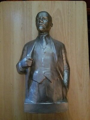 USSR Lenin Vintage Bust Signed Figure Dated 1977