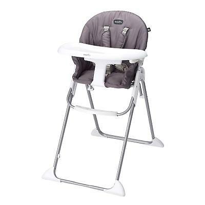 Evenflo Clifton Compact Foldable Lightweight Baby Toddler High Chair, Smoke Gray