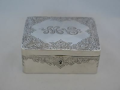 c.1890s Gorham Sterling Silver Incredible Jewelry Box