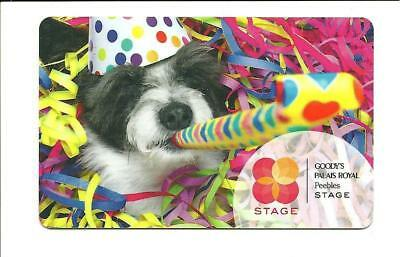 Goodys Party Hat Dog Streamers Gift Card No $ Value Collectible Peebles Stage